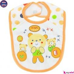 پیشبند نوزاد و کودک 2 لایه خرس بامزه تایلندی Baby Bib