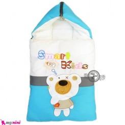 قنداق فرنگی تترون نوزاد فیروزه ای خرس باهوش Baby Sleeping Bag