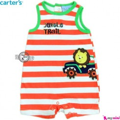 سرهمی شورتی بچه 3 تا 6 ماه شیر و ماشین کارترز Carter's baby rompers