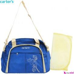 ساک لوازم نوزاد کارترز آبی گل Carter's baby diaper bag