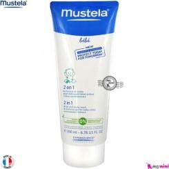 شامپو سر و بدن نوزاد و کودک ماستلا mustela baby shampoo 2 in 1