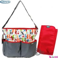 کیف لوازم نوزاد و مادر برزنتی الفبا گراکو Graco signal diaper bag