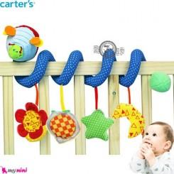 آویز کریر و تخت پیچ پیچی عروسکی زنبور کارترز Carter's baby play activity spiral