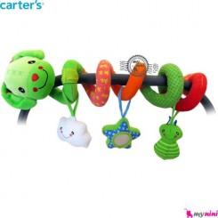 آویز تخت و کریر پیچ پیچی عروسکی سگ کارترز Carter's baby play activity spiral