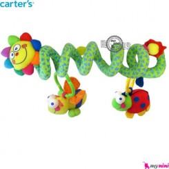 آویز تخت و کریر پیچ پیچی عروسکی گل کارترز Carter's baby play activity spiral