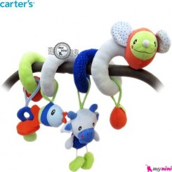 آویز کریر و تخت پیچ پیچی عروسکی موش کارترز Carter's baby play activity spiral