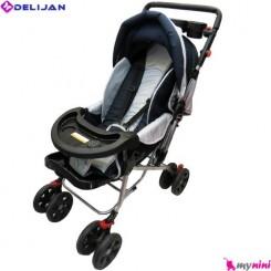 کالسکه رویه برزنتی سُرمه ای نوزاد و کودک دلیجان Delijan Ufo stroller