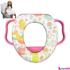 تبدیل توالت فرنگی کودک سفید دایناسور Baby toilet trainer