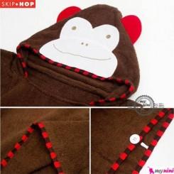 حوله تن پوش بچگانه میمون اسکیپ هاپ Skip Hop Wearable Hooded Cartoon Bath Towel for Kids