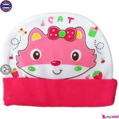 کلاه کشی نوزاد و کودک گربه Cotton Hat