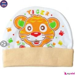کلاه نخی کشی نوزاد و کودک ببر Cotton Hat