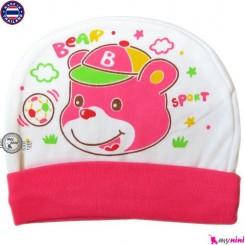 کلاه نخی کشی نوزاد و کودک خرس و توپ تایلندی Newborn cotton hat