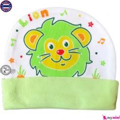 کلاه نخی کشی نوزاد و کودک شیر تایلندی Newborn cotton hat