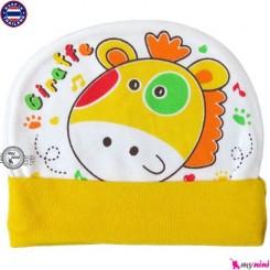کلاه نخی کشی نوزاد و کودک زرافه تایلندی Newborn cotton hat