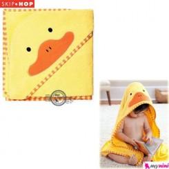 حوله اسکیپ هاپ کلاهدار نوزاد و کودک جوجه اردک Skip Hop baby hooded towel
