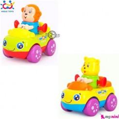 ماشین حیوانات هویلی تویز خرس و میمون Huile Toys animal cars