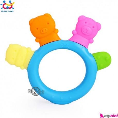 دندانگیر هویلی تویز حیوانات Huile Toys baby animals teether