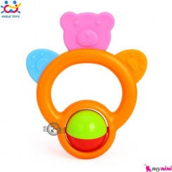 دندانگیر و جغجغه هویلی تویز خرسی Huile Toys baby bear teether