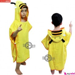 حوله اسکیپ هاپ تن پوش زنبور Skip Hop Wearable Hooded Cartoon Bath Towel for Kids