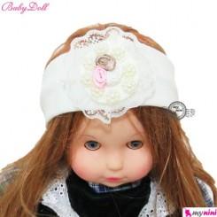 تل مو نوزاد بی بی دُل گل دار ترکیه Baby Doll baby hair band