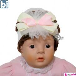 تل مو نوزاد بی بِی بی کرم صورتی ترکیه Bibaby baby hair band