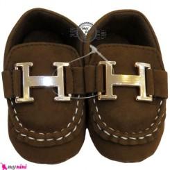 کفش نوزاد و کودک کالج قهوه ای Boy Shoes
