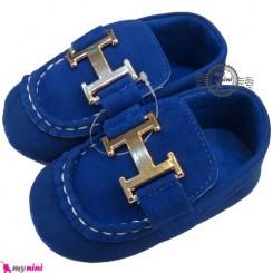 کفش بچه کالج سُرمه ای Boy Shoes