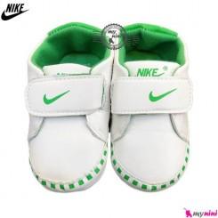 کفش اسپرت نوزاد و کودک نایک سفید و سبز Nike Baby shoes