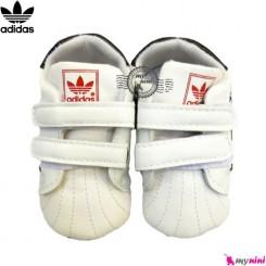 کفش اسپرت بچگانه آدیداس سفید و مشکی Adidas baby shoes
