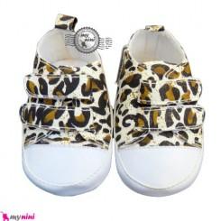 کفش سیسمونی پلنگی Baby shoes