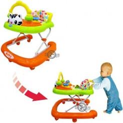 روروئک و واکر کودک کیتی موزیکال سبز نارنجی Baby walker