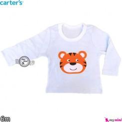 لباس کارترز آستین بلند ببر آبی carter's long sleeve t shirts