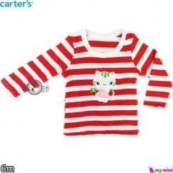 لباس کارترز آستین بلند ببر قرمز carter's long sleeve t shirts