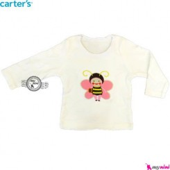 بلوز کارترز شیری زنبور carter's long sleeve t shirts