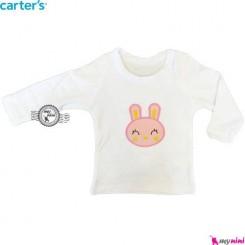 بلوز کارترز سفید خرگوش carter's long sleeve t shirts