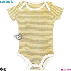 بادی کوتاه کارترز 6 ماه Carter's short sleeve bodysuits