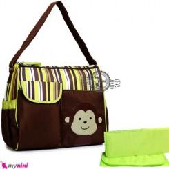 ساک لوازم نوزاد میمون سبز Baby monkey diaper bag