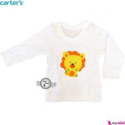 بلوز کارترز سفید شیر carter's long sleeve t shirts