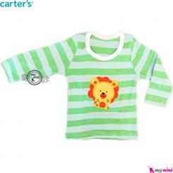 لباس کارترز سبز راه راه شیر carter's long sleeve t shirts