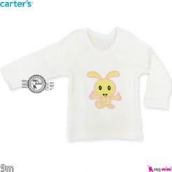 لباس کارترز آستین بلند خرگوش 9 ماه carter's long sleeve t shirts