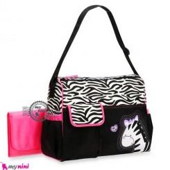 ساک لوازم نوزاد گورخر Baby zebra diaper bag