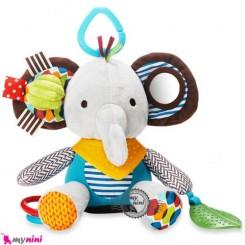 آویز کریر و آویز تخت جغجغه ای فیل SKK Baby rattles