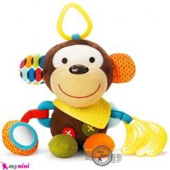 آویز کریر و آویز تخت جغجغه ای میمون SKK Baby rattles