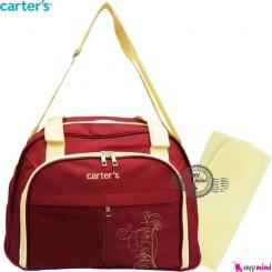 ساک کارترز زرشکی گل Carter's baby diaper bag