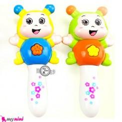 زنبورک جغجغه ای موزیکال و چراغدار Baby rattles and flash toy's