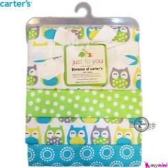 خشک کن کارترز جغد سبز Carter's baby blanket