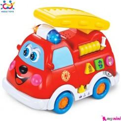 ماشین آتش نشانی هویلی تویز Huile Toy's fire truck