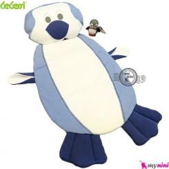تشک و بالش نوزاد ببسی پنگوئن آبی Bebessi baby mattress