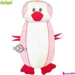 تشک و بالش نوزاد ببسی پنگوئن صورتی Bebessi baby mattress