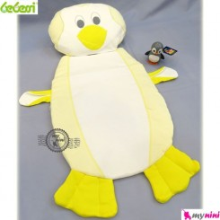 تشک و بالش نوزاد ببسی پنگوئن لیمویی Bebessi baby mattress